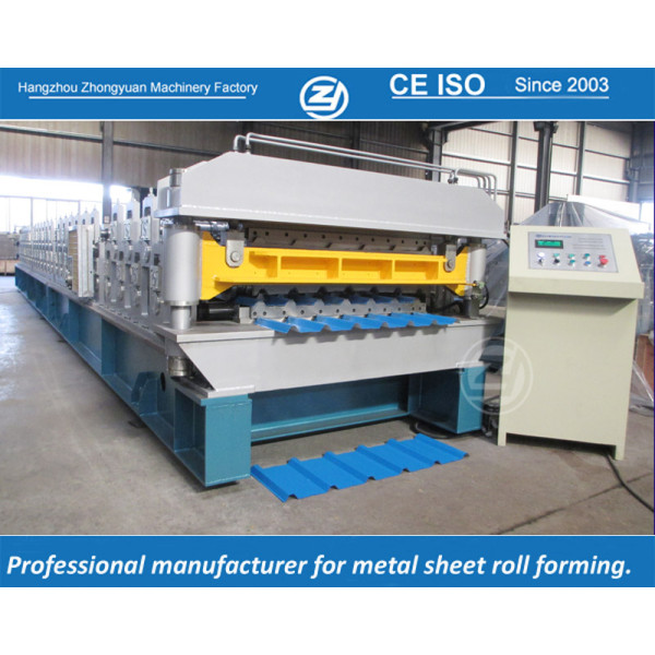 European standard customized America AG & Rib profile double layer machine manufacturer with ISO quality system   ZHONGYUAN