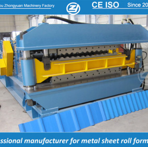 Máquina de prensagem de camada dupla para Long span e folha de zinco ondulado