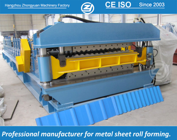 Double Layer roll forming machine for Long span and aluzinc corrugated sheet