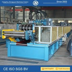 Padrão europeu personalizado e automático CZ mutável purlin máquina com sistema de qualidade ISO | ZHONGYUAN