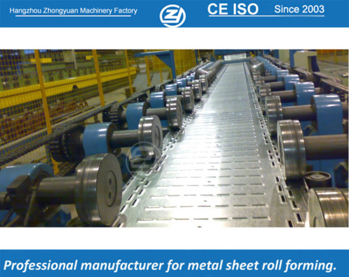 Mitsubishi PLC controller cable tray forming machine with life time service | ZHONGYUAN