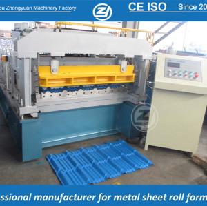 Rollo de teja de metrocopo de aluminio personalizado estándar europeo que forma la máquina manuafaturer con sistema de calidad ISO | ZHANGYUAN