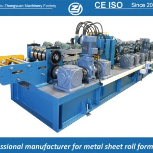 European standard customized & Automatic Z purlin roll forming machine with ISO quality system | ZHONGYUAN