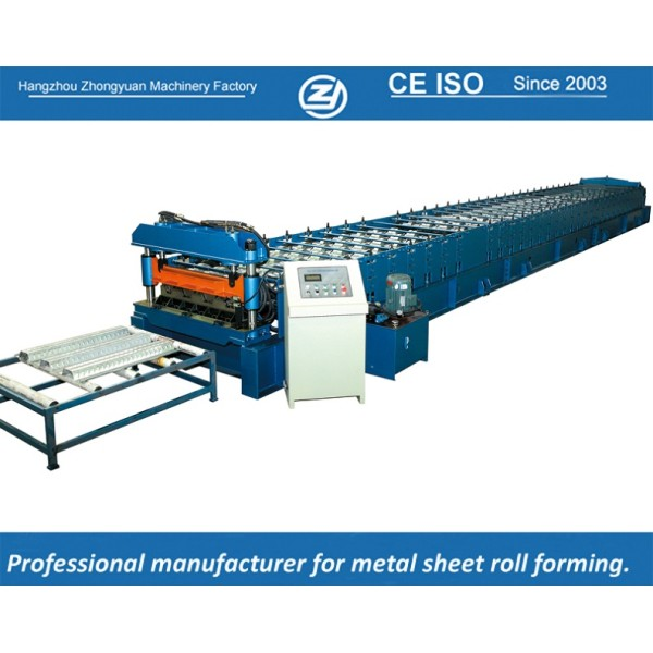 European standard customized deck roll forming machine manuafaturer with ISO quality system   ZHONGYUAN