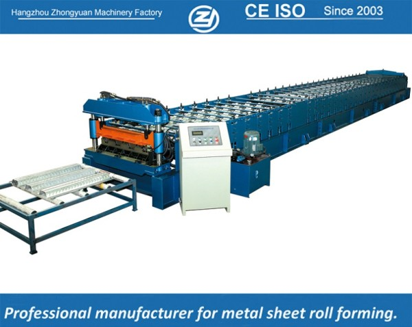 European standard customized deck roll forming machine manuafaturer with ISO quality system | ZHONGYUAN