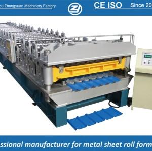 Estándar europeo personalizado rollo de doble capa que forma la máquina para manuafaturer hoja trapezoidal con sistema de calidad ISO | ZHANGYUAN