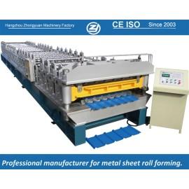 Машина для формовки рулонной бумаги с двойным слоем для стандартного европейского стандарта для трапецеидального листового мануфактура с системой качества ISO | ZHANGYUAN