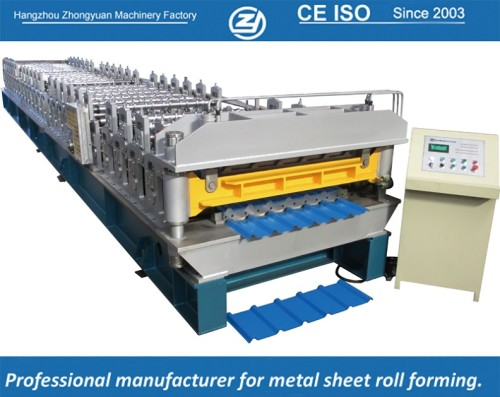 European standard customized double Layer roll forming machine for Trapezoidal sheet manuafaturer with ISO quality system | ZHONGYUAN