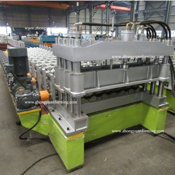 High speed customized aluminium Metropo roll forming machines factory with Gear Box Transmission   ZHONGYUAN