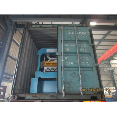 Delivery of floor deck roll forming machine on June 26,2019