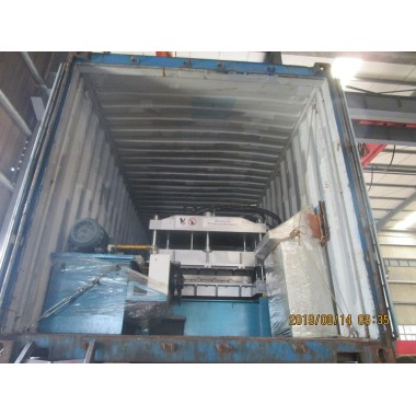 Delivery of Aluminium step tile roll forming machine on August 14,2019