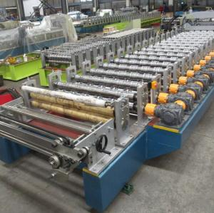 High speed customized Step Tile roll forming machines factory with Gear Box Transmission | ZHONGYUAN