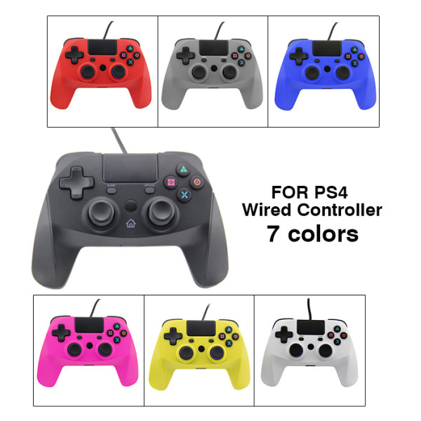 PS4 Controller USB Wired for Playstation 4 ,Plug and Play Video Game Gamepad Joystick for 2018 Latest PS4 Console/ PS4 Slim / PS4 Pro / PS3 / PC 360 Windows 7/8/ 10(7colors)