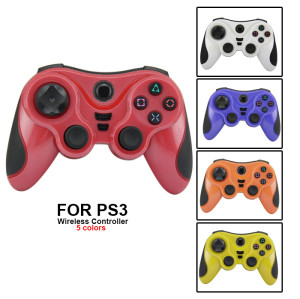 PS3 Controller-Wireless Gaming Controller, PS3 Double Vibration Game Controller With Upgrade Sixaxis And High-Precision Joystick For Playstation 3  Five Colors