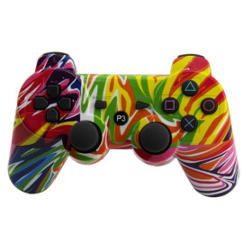 PS3 Wireless Controller, Bluetooth Double Vibration  Gamepad Joystick for PlayStation 3 PS3 PP bag Five Colors