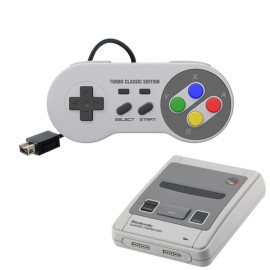 SNES Classic Mini Wired Controller [TURBO EDITION] Super Nintendo Corded Gamepad Joypad