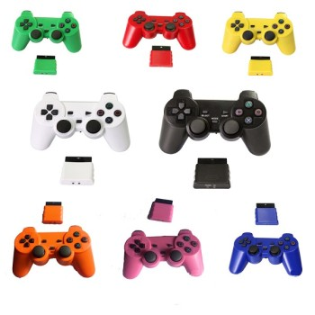 2.4g Wireless Game Pad Joysticks Gaming Controller Joypad Gamepad Console for  Ps2 w/ Dual Shock  Eight Colors