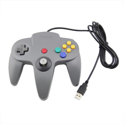 1.8m Wired Classic Controller N64 Retro USB Game Controller Gamepad Joystick for Windows PC / MAC / Raspberry Pi / Sega Genesis / Higan  5 Colors
