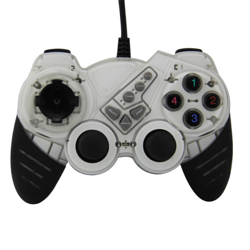 USB Pc Computer Vibration Shock Wired Gamepad Game Controller Joystick Game Pad (Black)