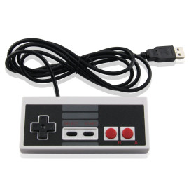 USB Controller for Classic NES, USB Famicom Game Gaming Controller Joypad Gamepad for Laptop Computer Windows PC/MAC/Raspberry Pi