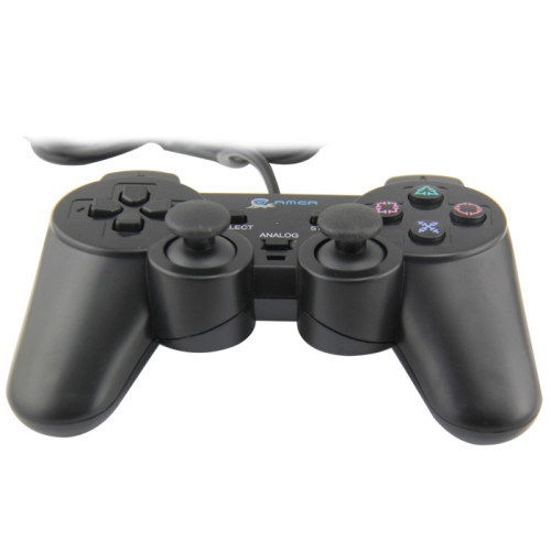 Game Controller, Unionlike USB Wired Gamepad, Joypad with Shoulders Buttons, for Microsoft Xbox 360/Xbox 360 Slim/PC Windows 7, Black