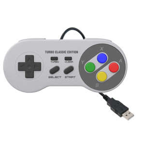 SNES Game Controller-2 Pack, Retro USB Super Nintendo Gamepad Joystick Joypad Gamestick for Windows PC MAC Linux Android Raspberry Pi 3 Steam Sega Genesis Higan