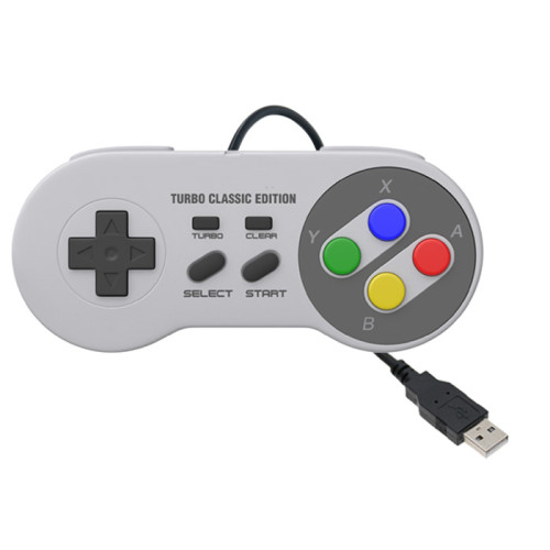 SNES Game Controller-2 Pack, Retro USB Super Nintendo Gamepad Joystick Joypad Gamestick for Windows PC MAC Linux Android Raspberry Pi 3 Steam Sega Genesis Higan