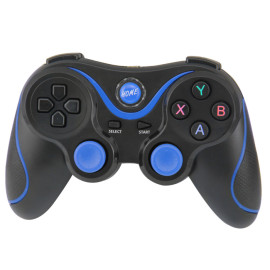 Game Controller Wireless Bluetooth Gamepad with Phone Holder Support Android / Windows PC / Smartphone (Blue)