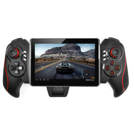 Wireless Bluetooth 3.0 Joystick Gamepad Controller 6 inch Telescopic Holder Android Tablet PC - Black+red/blue