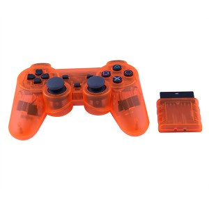 Wireless Controller Game Pad Joystick Gamepad Dual Vibration Double Controllers Turbo Clear and Auto Function with free CD for PS1 PS2 PS3 Consoles PC WIN98 ME 2000 XP VISTA WIN7 Computer Games -Crystal Five Colors