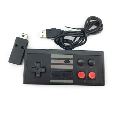 Wireless Game Controller for NES Classic Edition,  2.4G No-wired Gamepad Joypad with Receiver for NES Classic Gaming System Console (1 Pack) Two Colors