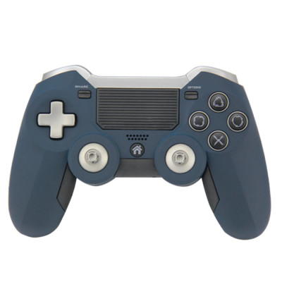 PS4 Elite Controller, 2018 Upgraded Gamefun Wireless Gamepad for Sony PlayStation4, Dual Vibration Game Holder Joypad with Sensitive Touch Panel, Interchangeable ThumbSticks Joystick Grips Paddles-blue
