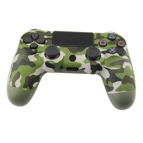 Bluetooth Wireless Controller for PS4 Vibration Joystick Gamepad PS4 Game Controller (Army green camouflage)US Version Packing