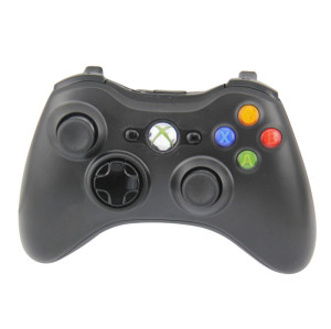 Wireless Game Pad Controller for Use With Microsoft Xbox 360 (Black)