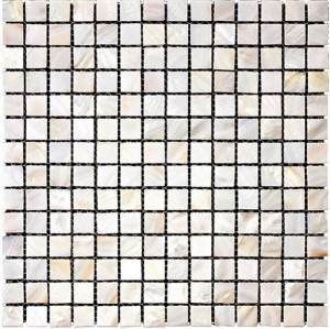White Natural River shell Mosaic Tile,Square shape