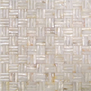 Seamless 3D basket weave Natural River shell Mosaic Tile