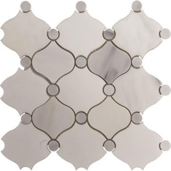 Fashion Water jet Marble Mosaic Tile