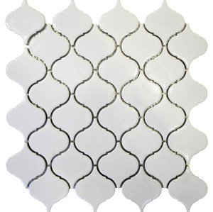 Arabesque shaped Porcelain Mosaic Tile, Glossy