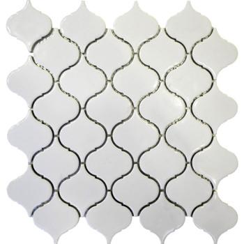 Arabesque shaped Porcelain Mosaic Tile, Glossy