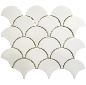scale shape Porcelain Mosaic Tile