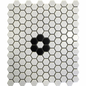 hexagon Porcelain Mosaic Tile