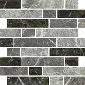ink jet brick style fabric effect glass Mosaic Tile