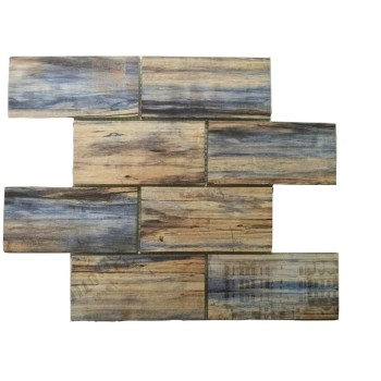wood looking glass subway glass  Tile 3x6