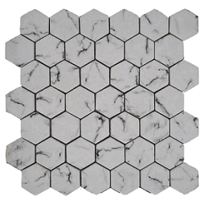 Hexagonal stone look glass Mosaic Tile