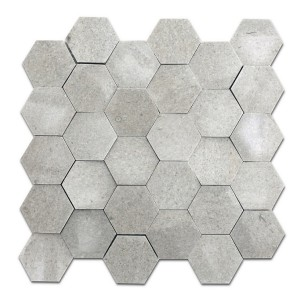 12''x 12'' Seamless Hexagon Marble Mosaic Tile