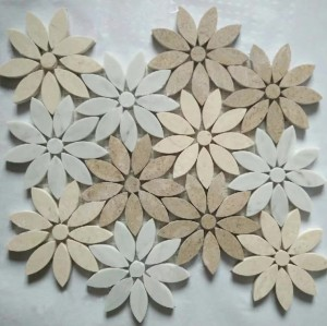 Multi color Flower Marble Mosaic
