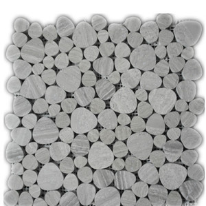 timber white pebble mosaic
