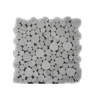 timber white pebble mosaic