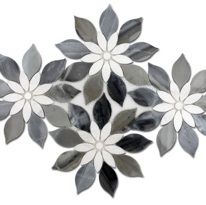 flower pattern marble tile
