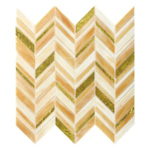 recycled glass- herringbone